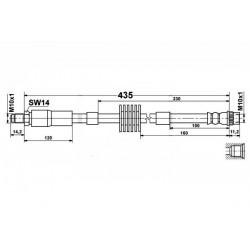 0924 elastyczny przewód hamulcowy OEM: 4806 H3 Peugeot 308 3008 5008 przód