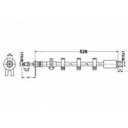 1159 elastyczny przewód hamulcowy OEM: 480680 Peugeot 406 przód prawy