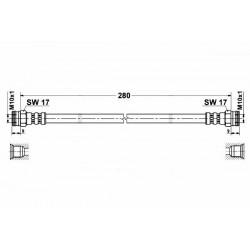1151 elastyczny przewód hamulcowy OEM: 480678 Peugeot 406 tył