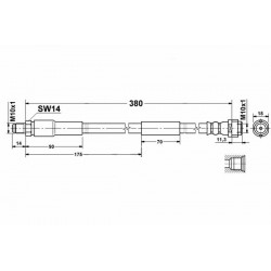 8574 elastyczny przewód hamulcowy OEM: 2204200048 W211 S211 W220 przód