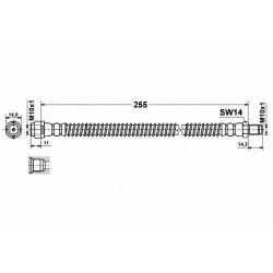 4085 elastyczny przewód hamulcowy OEM: 2114200548 W211 S211 tył