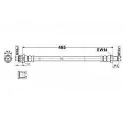 0126 elastyczny przewód hamulcowy OEM: 1694280035 W169 W245 przód