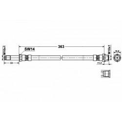 0331 elastyczny przewód hamulcowy OEM: 2D0611701B Mercedes Sprinter 903 przód - tył