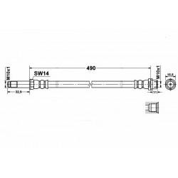 0279 elastyczny przewód hamulcowy OEM: 2E0611707C Mercedes Sprinter 901 902 903 bez ABSu przód