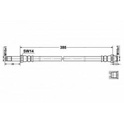 0278 elastyczny przewód hamulcowy OEM: 2E0611707A