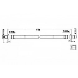 0576 elastyczny przewód hamulcowy OEM: 6384281035 Mercedes Vito 638 tył
