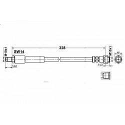 0276 elastyczny przewód hamulcowy OEM: 6394280435 Mercedes Vito W639 tył
