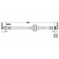 0373 elastyczny przewód hamulcowy OEM: 8200129954