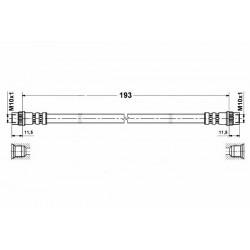 4770 elastyczny przewód hamulcowy OEM: 7700304969