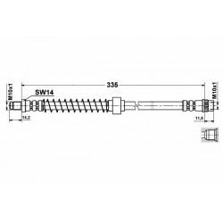 4769 elastyczny przewód hamulcowy OEM: 7700313596