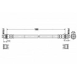 1169 elastyczny przewód hamulcowy OEM: 7701050073