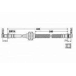 0991 elastyczny przewód hamulcowy OEM:8200552980 Renault Megane 2 lift przód