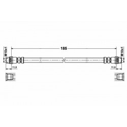 1164 elastyczny przewód hamulcowy OEM: 6025307607