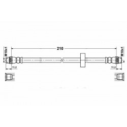 1167 elastyczny przewód hamulcowy OEM: 8200131599
