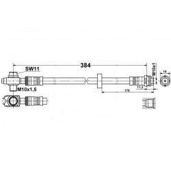 4772 elastyczny przewód hamulcowy OEM: 6N0611701B