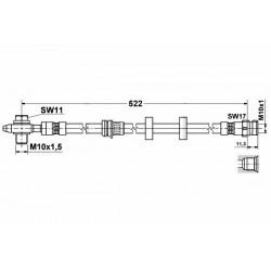 image0352 elastyczny przewód hamulcowy OEM: 6Q0611701C Ibiza 4, Fabia, Polo 9N - przód