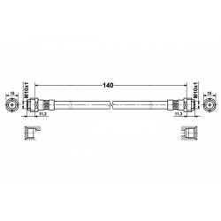 4778 elastyczny przewód hamulcowy OEM: 1J0611775 Octavia 1 tył belka