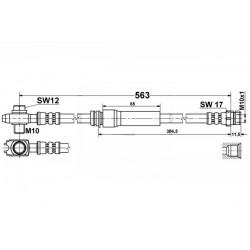 0357 elastyczny przewód hamulcowy OEM: 1K0611701 A3 Leon 2, Toledo 3,Octavia 2, Golf 5 przód