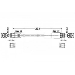 0359 elastyczny przewód hamulcowy OEM: 1K0611775C A3 Leon 2, Toledo 3,Octavia 2, Golf 5 tył