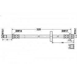4800 elastyczny przewód hamulcowy OEM: 6U0611701B Skoda Felicia przód