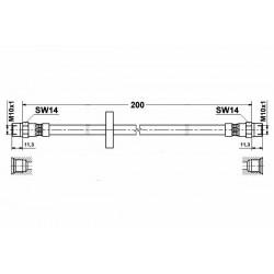 1756 elastyczny przewód hamulcowy OEM: 811611775 AUDI 80 Coupe lewy tył