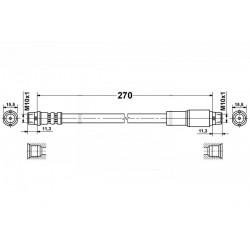 4744 elastyczny przewód hamulcowy OEM: 4A0611707 Audi 100 A6 przód