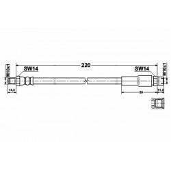 4669 elastyczny przewód hamulcowy OEM: 443611775F