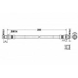4776 elastyczny przewód hamulcowy OEM: 8D0611775B Audi A4 B5 tył
