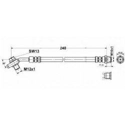 0328 elastyczny przewód hamulcowy OEM: 8D0611775J Audi A4 B5 tył zacisk
