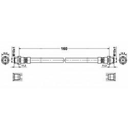 4796 elastyczny przewód hamulcowy OEM: 8D0611775C Audi 80 A4 B5 Quattro tył