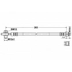 2830 elastyczny przewód hamulcowy OEM: 8E0611775H Audi A4 B6 tył