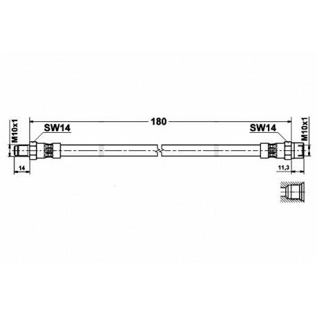 0335 elastyczny przewód hamulcowy OEM: 4A0611775B