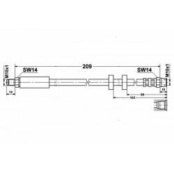 0330 elastyczny przewód hamulcowy OEM: 4A0611775 A6 C4 Quattro tył