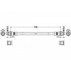 0329 elastyczny przewód hamulcowy OEM: 4B0611775 Audi A6 C5 tył