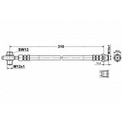 0337 elastyczny przewód hamulcowy OEM: 4B0611775C Audi A6 C5 zacisk tył