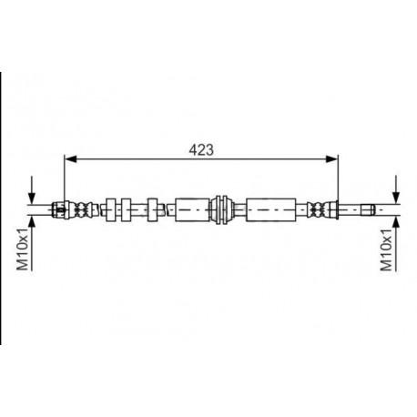 0885 elastyczny przewód hamulcowy OEM: 4G0611707E Audi A6 C7 przód