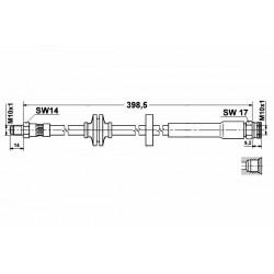 0484 elastyczny przewód hamulcowy OEM: 60698796