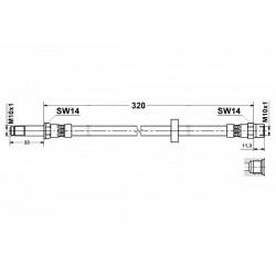3675 elastyczny przewód hamulcowy OEM: 30665463