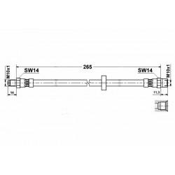 3678 elastyczny przewód hamulcowy OEM: 30665462