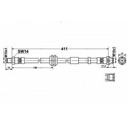 0125 elastyczny przewód hamulcowy OEM: 30681724