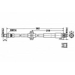 0368 elastyczny przewód hamulcowy OEM: 30681726