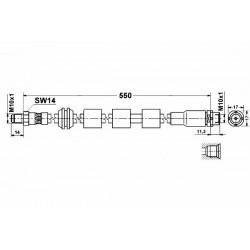 0271 elastyczny przewód hamulcowy OEM: 34326760909 BMW E60 E61 E63 E64 przód