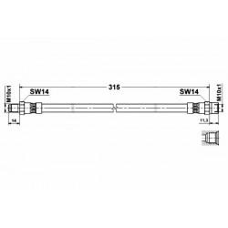 0754 elastyczny przewód hamulcowy OEM: 34306782862 BMW E61  tył