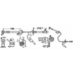 9057 elastyczny przewód hamulcowy OEM:13116137 ASTRA G H Zafira Meriva tył belka tarcze