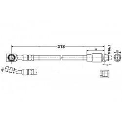 0222 elastyczny przewód hamulcowy OEM: 5562245 Opel Meriva A przód