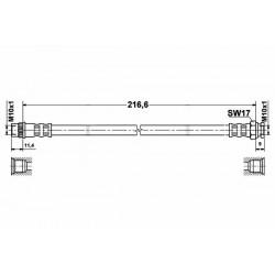 0228 elastyczny przewód hamulcowy OEM: 4806G5