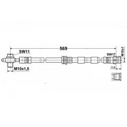 0259 elastyczny przewód hamulcowy OEM: 1J0611701G Audi A3 Quattro, LEON, OCTAVIA BORA GOLF 4x4 4motion