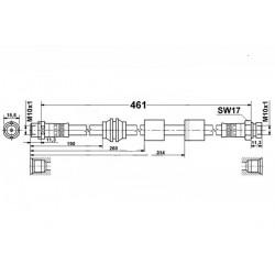 0348 elastyczny przewód hamulcowy OEM: 7M3611701A