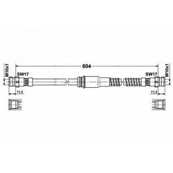 0435 elastyczny przewód hamulcowy OEM: 1K0611701L AUDI A3 SEAT LEON 2 Skoda SuperB 2 VW EOS GOLF VI Scirocco przód