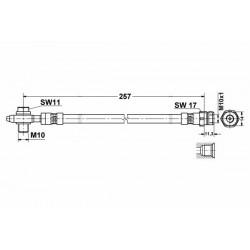 0441 elastyczny przewód hamulcowy OEM: 5N0611775